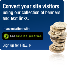 Convert your site visitors using our collection of banners and text links