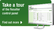 Take a tour of the Reseller control panel